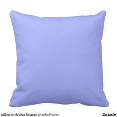 pillow with blue flowers sierkussen