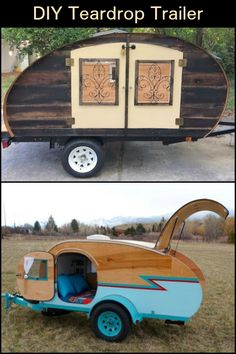 Build your own teardrop trailer from the ground up - If you love the idea of your own camper trailer, but don't like the price tag, you can always bui - Teardrop Trailer Interior, Diy Camper Trailer, Tiny Camper, Small Campers, Camper Life, Teardrop Campers, Teardrop Caravan, Micro Campers, Trailer Tent