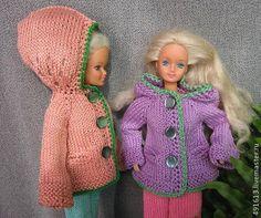 Вяжем курточку с капюшоном для Барби, тильдочек, текстильных и интерьерных кукол - Ярмарка Мастеров - ручная работа, handmade