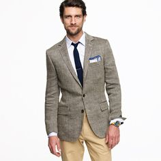 Linen herringbone sportcoat in Ludlow fit   (In the herringbone brown)  $325.00