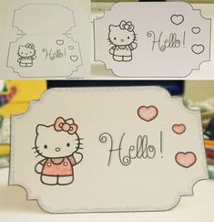 Printable Hello Kitty Card Template
