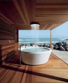 Nothing compares to a bathtub with a seaside view, complete with fresh ocean…