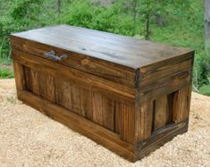 You asked for it...Large Chest with an Antique Style Padlock.! This Wooden Chest with Lock offers you the ability to secure your treasured items away with a replica of an old padlock with a pair of skeleton keys. This Chest is NOT intended for use by Children, Lock is not a toy...ADULTS ONLY! Your Looney Bin Chest will be a unique one-of-a kind treasured item for years to come! This Large Hope Chest is made from Recycled Shipping Pallet Wood. This reclaimed wood has beautiful character while…