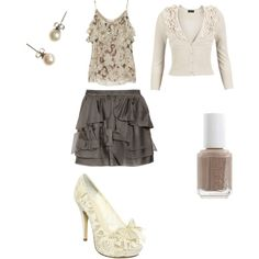 Cream and Brown, created by camillebrown95.polyvore.com