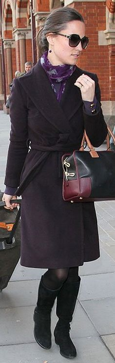 Pippa's style - Love these shades of plum and purple!