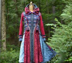 Boho patchwork Sweater COAT fantasy wearable art by amberstudios