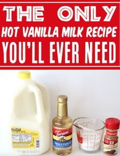 Hot Vanilla Milk Recipe! This cozy drink is the tastiest way to warm up on a chilly day! With sweet vanilla, luscious whipped cream, and a dash of cinnamon, you'll be savoring every dreamy sip! Just 5 ingredients and you're done! Go grab the recipe and give it a try this week! Party Food And Drinks, Fun Drinks, Cold Drinks, Beverages, Hot Vanilla Recipe, Vanilla Milk, Easy Thanksgiving Recipes, Winter Recipes, Sugar Free Recipes