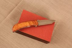 Canary Wood Switch Knife by Woodblends on Etsy