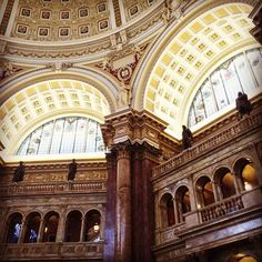I'm being watched as I work... #libraryofcongress #washingtondc #workspace #worklife #travel #travelgram #architecture #traveler #architecturelovers #architectural #statues #library #librarytime #tourist #touristlife #workremote