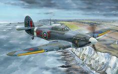 Hawker Hurricane Mk iic sobre los acantilados de Dover. Más en www.elgrancapitan.org/foro/