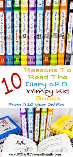 10 reasons why every kid should read the Diary of a Wimpy Kid books. From a 10 year old fan!
