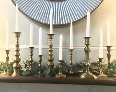 Set of 10 Brass Candlesticks Solid Brass Candlesticks Lot House Candle Holder, Brass Candle Holders, Pig Kitchen Decor, Brass Planter, Small House Decorating, Ceramic Houses, Succulents In Containers, Home Candles, Tea Light Holder