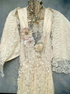 Vintage lace + beading
