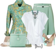 """Office Look"" by dimij ❤ liked on Polyvore - lovely color combination!"