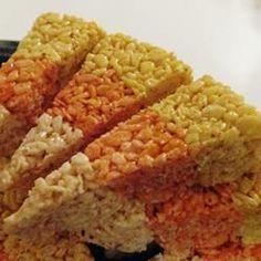 Candy corn Marshmello treats