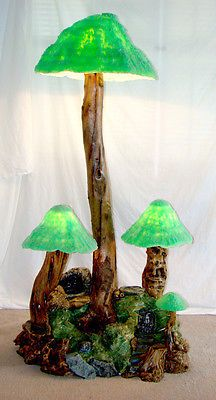 """59"""" Vintage MAGIC MUSHROOM Waterfall FLOOR LAMP Mid Century Modern ART SCULPTURE"""