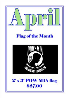 April Flag of the month coupon flyer.
