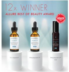 SkinCeuticals antioxidants win more Allure Best of Beauty Awards. These products w-o-r-k!