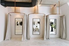 The Importance of Fitting Room Design in a Retail Space can find Retail and more on our website.The Importance of Fitting Room Design in a Retail Space Boutique Design, Design Shop, Boutique Decor, Shop Interior Design, Boutique Ideas, Design Design, Retail Boutique, Boutique Stores, Interior Ideas