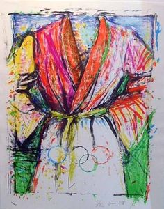 "#Happybirthday to #JimDine #Bornonthisday Please enjoy this #serigraph entitled ""Olympic Robe"" #PopArtist #neodada"