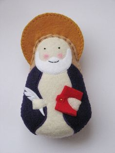 Saint Matthew...Felt Softie by SaintlySilver on Etsy, $18.00