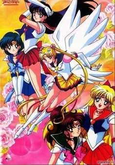 Inner Senshi with Eternal Sailor Moon