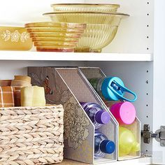 Make creative use of your kitchen space with these cheap kitchen storage ideas! Utilize your pantry and cupboards to their fullest. These storage hacks will get your pots, pans, baking sheets and containers in an organized space!