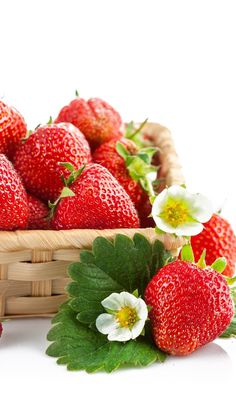 Truskawki w koszyczku - Tapeta na telefon Strawberry, Fruit, Garden, Food, Kitchens, Garten, Lawn And Garden, Essen, Strawberry Fruit