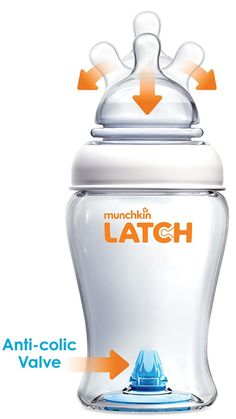 Munchkin Latch Anti-Colic Baby Bottle with Ultra Flexible Breast-like Nipple, BPA Free, 8 Ounce, 3 Pack Bpa Free Bottles, Glass Baby Bottles, Munchkin Bottles, Baby Must Haves, Everything Baby, Baby Hacks, Baby Registry, Breastfeeding, Baby Shower Gifts