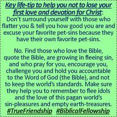 #TrueFriendship  #BiblicalFellowship  Amen? :)   ~ Your growing bro, SH :)