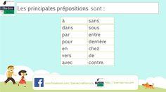 Quelles sont les 14 principales #prépositions et #comment les #mémoriser