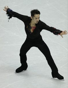 Daisuke Takahashi of Japan skates his free program in the mens competition at the 2013 World Figure Skating Championships in London, Ontario, March 15, 2013.