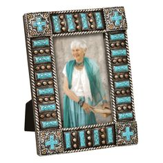 Turquoise Cross Picture Frame $9.95