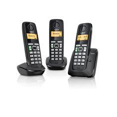 Gigaset A220 Trio DECT Telefoon zwart  Gigaset A220 Trio DECT Telefoon zwart  EUR 56.05  Meer informatie