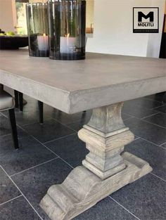 Interieurontwerp- en realisatie villa - picture for you Farmhouse Dining Room Table, Dining Room Table Chairs, Wooden Dining Tables, Rustic Table, Interior Design Living Room, Interior Decorating, Home Furniture, Sweet Home, Decoration