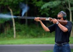 White House releases Obama skeet-shooting photo, after Obama said he sympathizes with hunters because he 'frequently' goes shooting himself. (via The Hill)