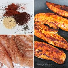 Skinny Buffalo Chicken Strips | Skinnytaste I love this seasoning and usually leave off the buffalo sauce to make #whole30