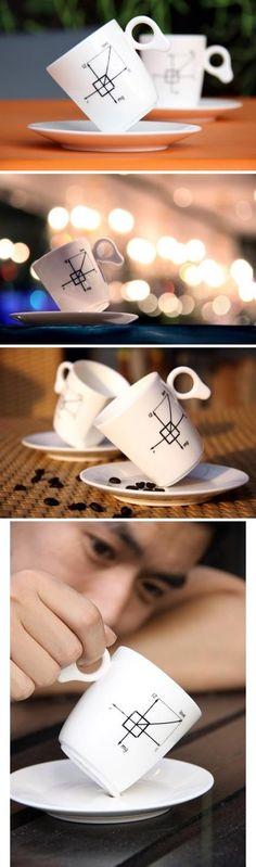 Creative tilted oriental  ceramic cup 6-25   August 2013