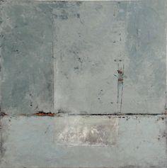 "Graceann Warn, Stonington 1, 2013  40"" x 40"" x 1.5 ""  Oil, encaustic and paper on wood panel"