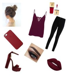 """Untitled #4"" by ioanaingrid-nedelcu ❤ liked on Polyvore featuring Vero Moda, Steve Madden, Apple and Yves Saint Laurent"