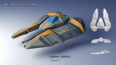 conceptual design of a fighter #scifiart #conceptart #spaceship