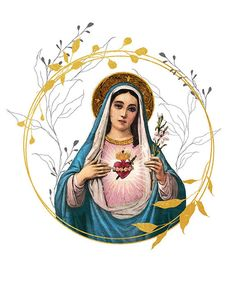 Catholic Crafts, Catholic Art, Religious Art, Images Of Mary, Felt Cover, Collage Artwork, Online Printing Services, Our Lady, Virgin Mary