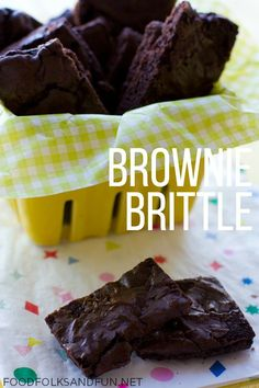 Brownie Brittle Recipe - This is my Brownie Brittle Recipe that's made from a box mix for a quick and easy treat! I bet you have all the ingredients in your pantry now!