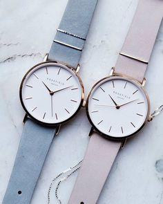 The West Village strap has a clean, seamless finish made of velvety nubuck leather. Striking details stand out, like the delicate metal rings around the strap. Made by hand, each strap color is unique with a different set of metal rings. Trendy Watches, Cute Watches, Elegant Watches, Beautiful Watches, Cute Jewelry, Jewelry Accessories, Fashion Accessories, Fashion Jewelry, Watch Accessories