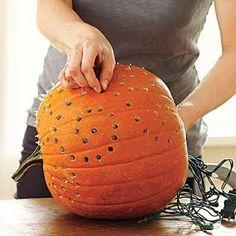 Christmas lights pumpkin design