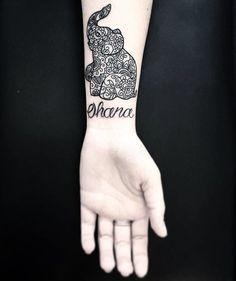 e4a37ee2b ohana-tattoo28 Ohana Tattoo, Bestie Tattoo, Elephant Tattoos, Matching  Tattoos, Leave
