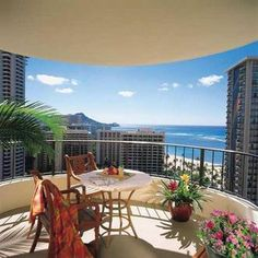 Looking forward to visiting Hawaii.  I heard it's a beautiful place! I wouldn't mind having this view from my hotel room either @ Hilton Hawaiian Village