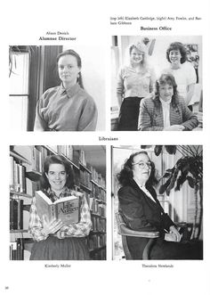 Page 30 of the 1990 Yearbook features Alison Derrick, Beth Davis, Kim Muller and Teddy Newlands | Russ DeVeau at Hartford College for Women | Scoop.it