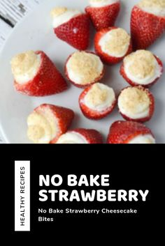 These no prepare strawberry cheesecake nibbles are overly simple to make! Pork Recipes, Easy Recipes, Vegan Recipes, Easy Meals, Recipes Dinner, Drink Recipes, Snack Recipes, Winter Recipes, Summer Recipes