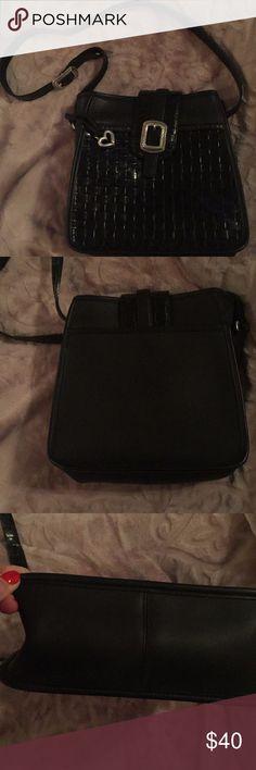 Black weaved Brighton cross body Pre owned very good condition Brighton Bags Crossbody Bags